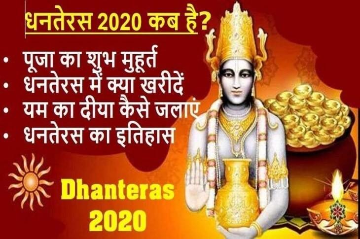 धनतेरस | धन्वंतरि त्रयोदशी 2020